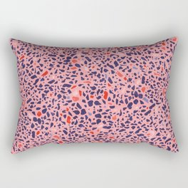 Terrazzo pink red blue Rectangular Pillow