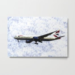 British Airways Boeing 777 Art Metal Print