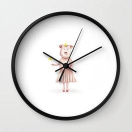 Pig Princess Wall Clock