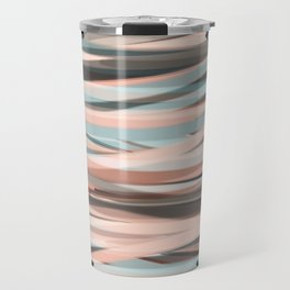Contrasting Strokes Travel Mug