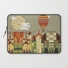 Hot air balloon ride trough the city Laptop Sleeve