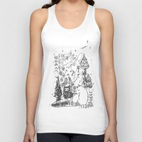 wolves Tank Tops featuring Wolves by Monique Turchan