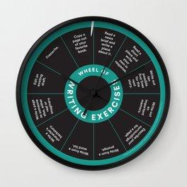 Wheel o' Writing Exercises Wall Clock