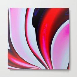 Abstract Fractal Colorways 02BPk Metal Print
