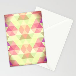 Triangles::Bright Stationery Cards
