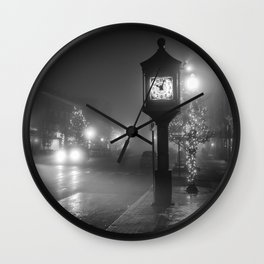 New Years Noir Wall Clock