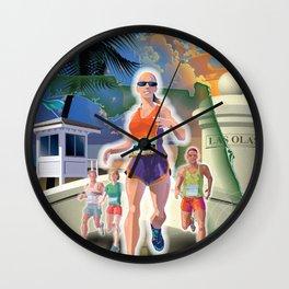Fort Lauderdale A1A Marathon Wall Clock