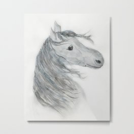 Gray Painted Horse Metal Print