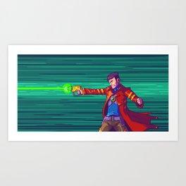 Blasting Hero Art Print