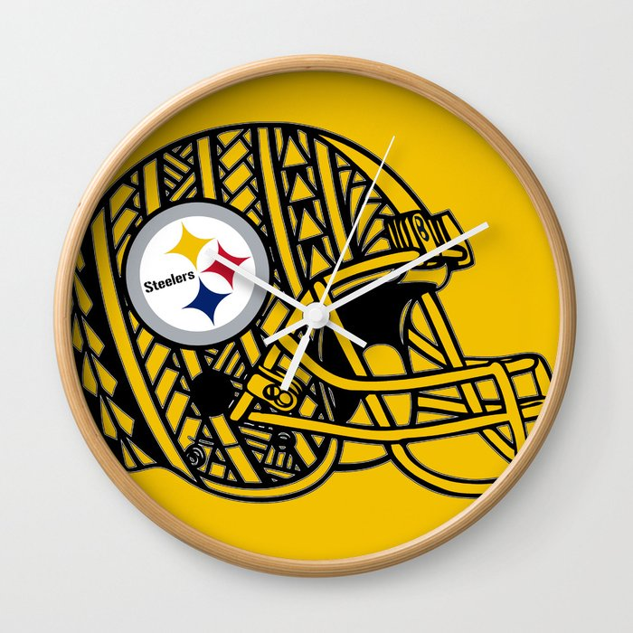 Polynesian style Steelers Wall Clock by ...