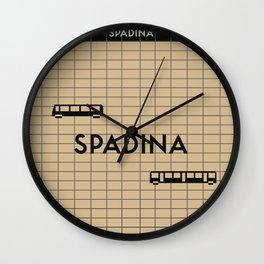 SPADINA | Subway Station Wall Clock