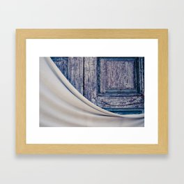 The purple door Framed Art Print