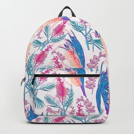 Beautiful Pink and Blue Australian Native Floral Print Backpack