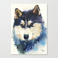 husky Canvas Prints featuring Husky by Jason Cai