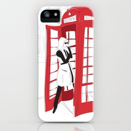 London Calling Fashion Phone Booth Girl iPhone Case