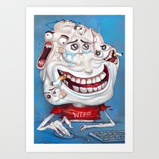 Faces chat Art Print