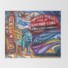 Chicago Montage 3 Throw Blanket