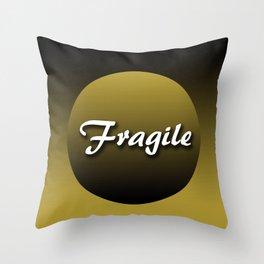 Fragile grocery bag Throw Pillow