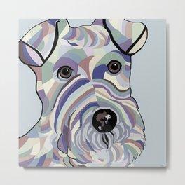 Wire Hair Terrier Denim Colors Metal Print