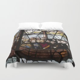 Stained Glass Window in Paris Duvet Cover