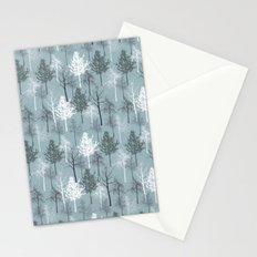 Blue and White Trees Stationery Cards