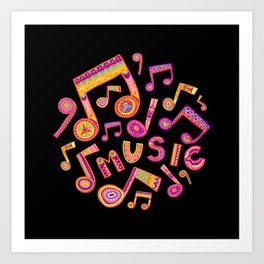 Lets play music Art Print