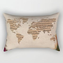 music world map Rectangular Pillow