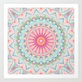 Mandala pastel no. 5 Art Print