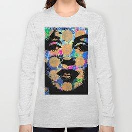 SEX GIRL SUPERSTAR FEMALE WOMAN NOW POP ART PAINTING Long Sleeve T-shirt