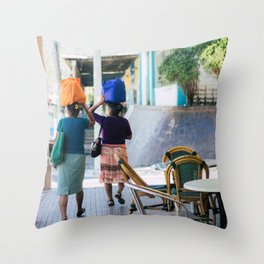 women in berlin Throw Pillow
