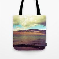 the national Tote Bags featuring National Forest by Christel Sayegh