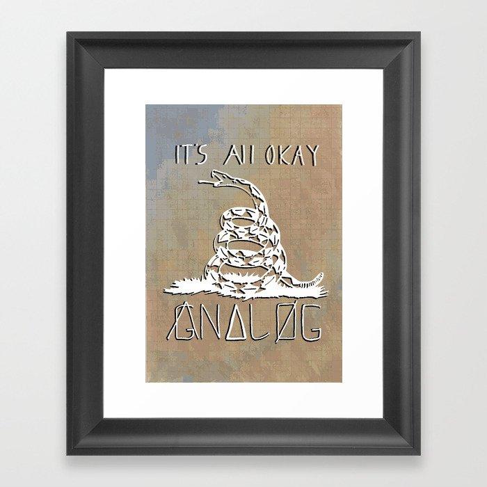 Gnalog (Analog Zine) Framed Art Print