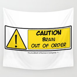 Brain out of Order Wall Tapestry