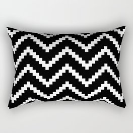 Tribal Chevron W&B Rectangular Pillow