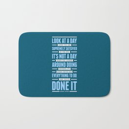 Lab No. 4 Look At A Day When Margaret Thatcher Inspirational Quote Bath Mat