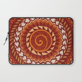 Retro Abstract 60s 70s Polynesian Tattoo Design Vintage Red Laptop Sleeve