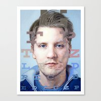mike wrobel Canvas Prints featuring Mike by Justin Yanke
