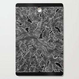 Inverted Enveloping Lines Cutting Board