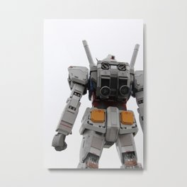 Gundam to the rescue! Metal Print