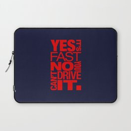 Yes it's fast No you can't drive it v5 HQvector Laptop Sleeve