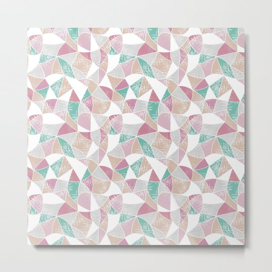 Abstract graphic pattern. Fun triangles. Metal Print