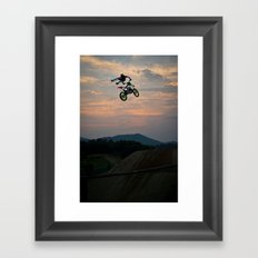 Yuuya Takano Flying at Sunset, FMX Japan Framed Art Print