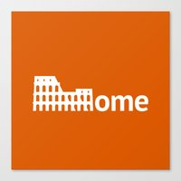 rome Canvas Prints featuring Rome by Flat Design