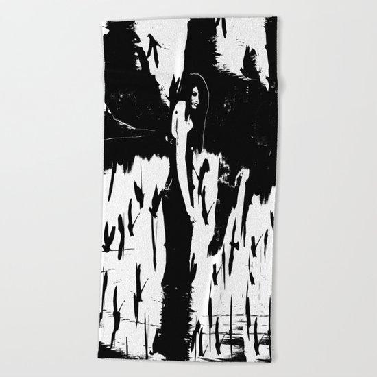 Rusalka:  Demon Witch of the Vasyugan Swamp Beach Towel