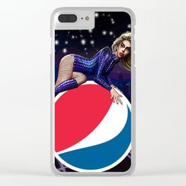 Lady Superbowl Clear iPhone Case