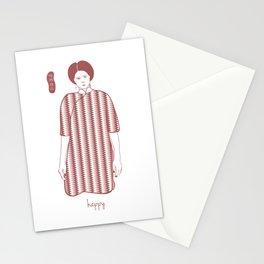 Cheongsam illustration happy Stationery Cards