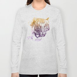 TIGER SUPERIMPOSED WATERCOLOR Long Sleeve T-shirt