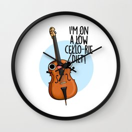 I'm On A Low Cello-rie Diet Cute Music Cello Pun Wall Clock