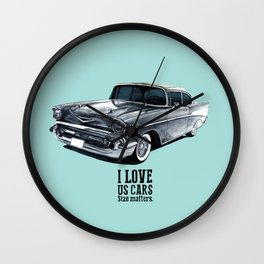US CARS - BelAir Wall Clock