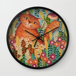 Cat in Love Wall Clock